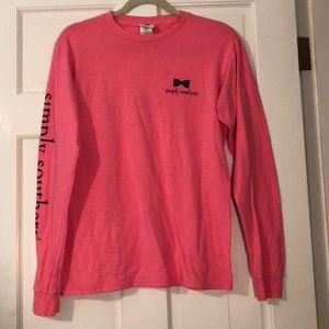 Pink simple southern long sleeve